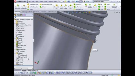 solidworks tutorial bottle cap solidworks tutorial using sweep tool to make simple bottle