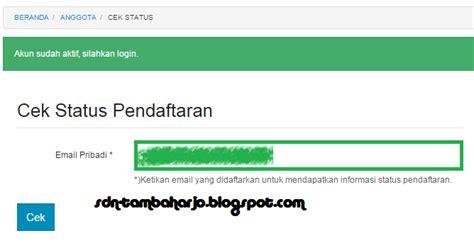 email kemdikbud cek status pendaftaran operator di sdm data kemdikbud go