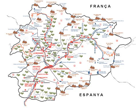 andorra on europe map maps of andorra map library maps of the world