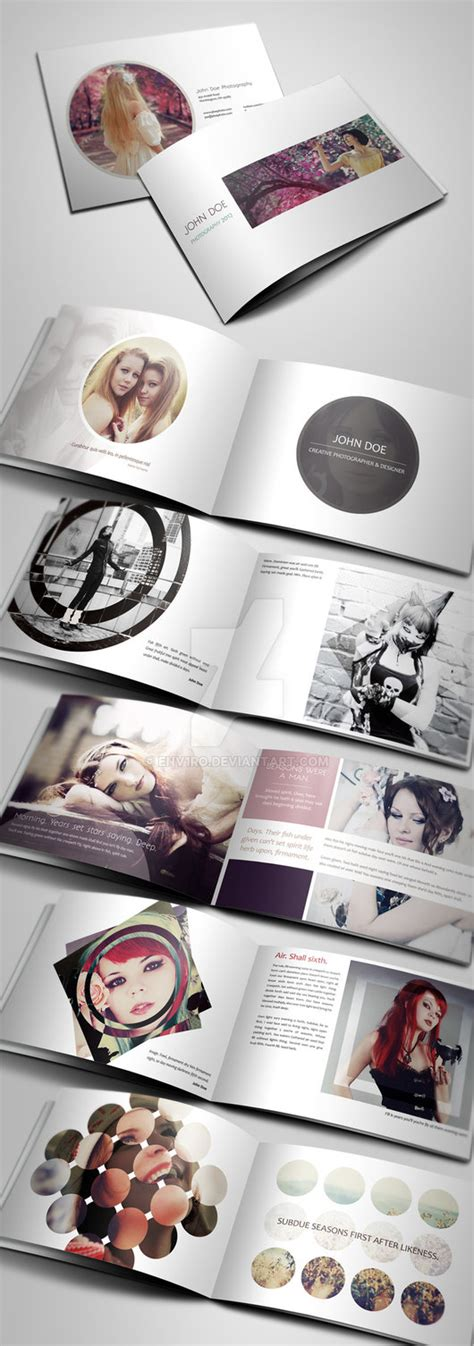layout portfolio a4 creative photography portfolio a4 brochure by env1ro on