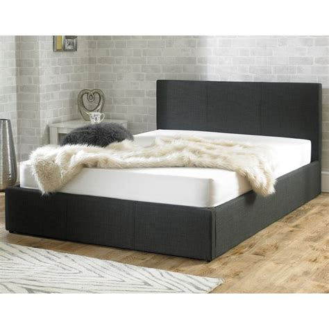 Stirling Ottoman 5ft King Size Charcoal Fabric Bed King Ottoman Beds