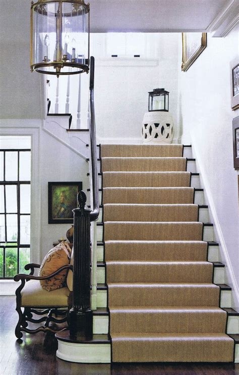 Painted Staircase Makeover With Seagrass 1000 Ideas About Staircase Runner On Stair