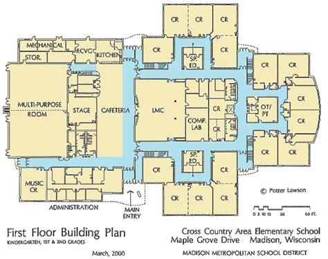 school building floor plan english exercises school day