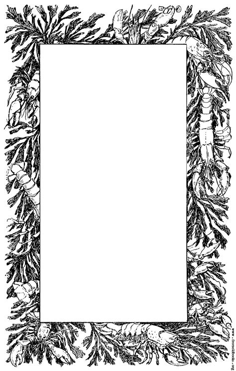 Decorative Page Borders by Decorative Page Border Of Lobsters And Crayfish