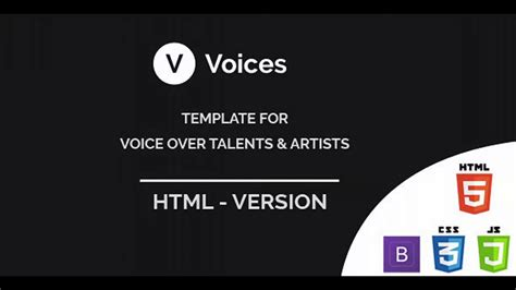 themeforest voice voices html template for voice over tallents