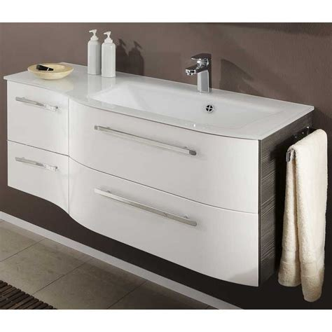 contea 2 draw 2 door vanity unit glass basin 1190 x480