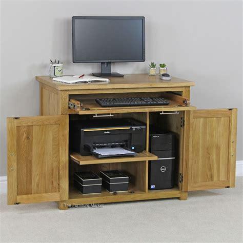 home office desk oak new solid oak hideaway home office computer desk