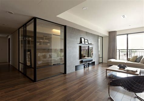 interior glass walls for homes apartment with a retractable interior wall