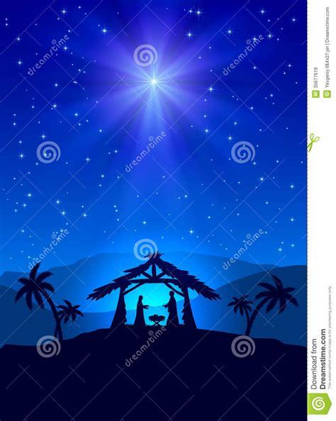 christmas night stock vector image of christian mary
