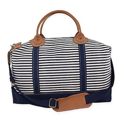 Laris Zada Weekender Bag Navy 1 buy cb station color weekender bag in navy stripe from bed bath beyond