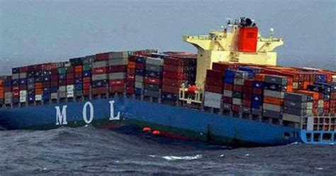 Syarii Mol freight fail container ship mol comfort breaks in two freightcenter shipping fails