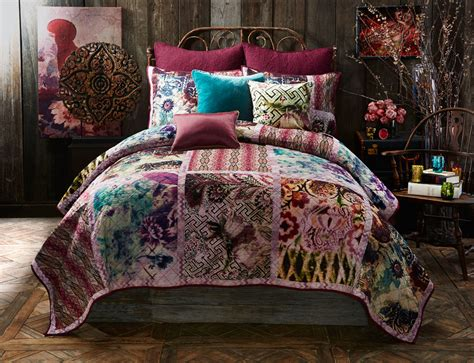 gypsy bedding purple bohemian bedroom interior design