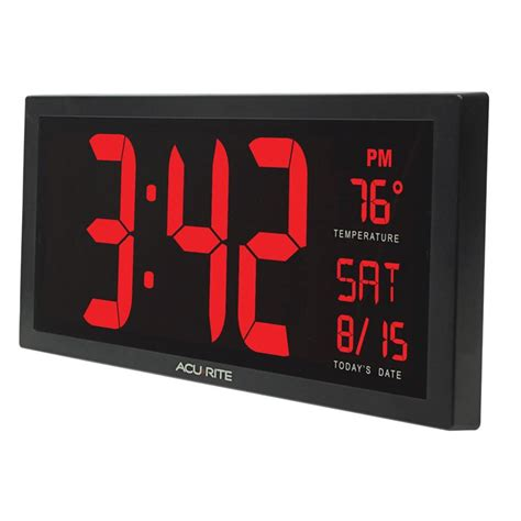 digital wall clocks amazon com acurite 75127 oversized led clock with indoor