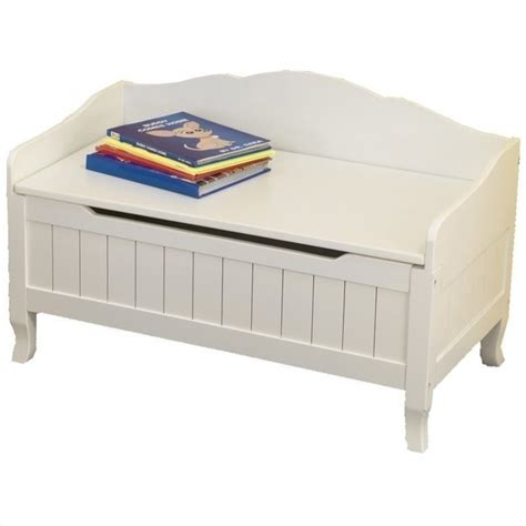 Lounges With Chaise Kidkraft Nantucket Wood Toy Chest Box In White 14562