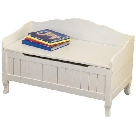 KidKraft Nantucket Wood Toy Chest/Box in White   14562