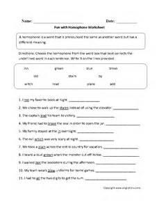 vocabulary worksheets homophone worksheets