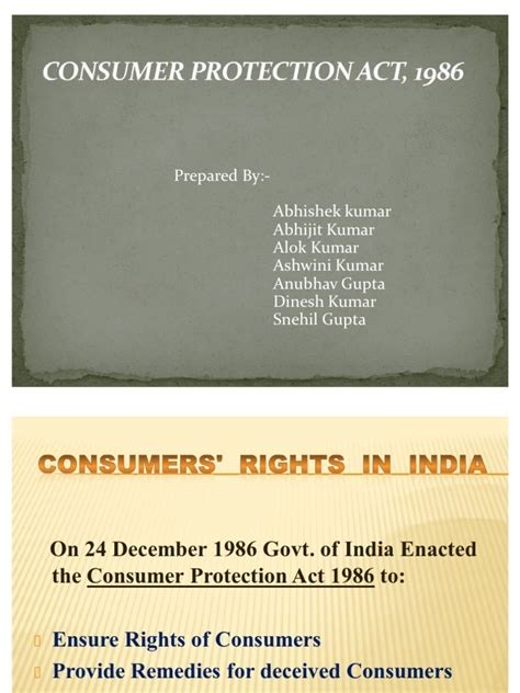 section 15 of consumer protection act consumer protection act main ppt