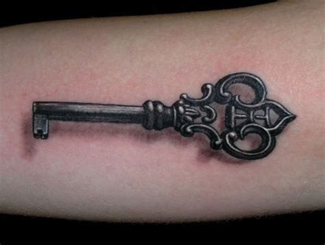 skeleton key tattoo 50 key design and ideas to unlock the mysteries of