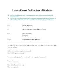 Business Purchase Letter Of Intent The Best Letter Sample