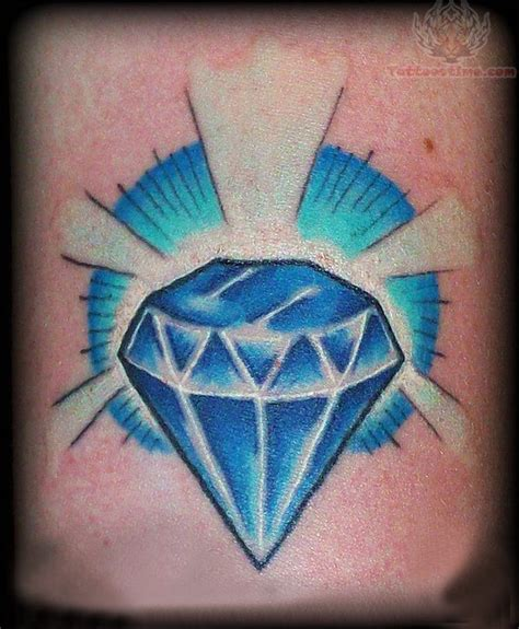 tattoo diamond ink shining diamond blue ink tattoo tats pinterest