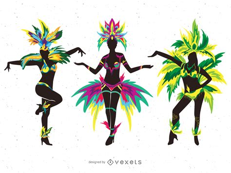 carnevale clipart carnival dancers silhouette illustrations vector