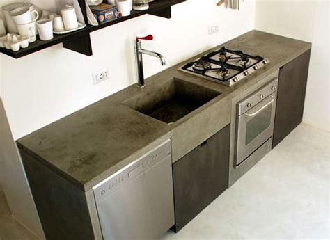 disenos cocinas revestidas cemento pulido  como