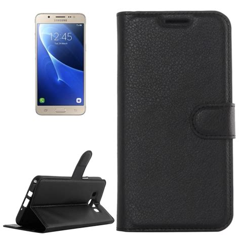 Samsung Galaxy J7 2016 J710 Casing Cover Kasing for samsung galaxy j7 2016 j710 litchi texture horizontal flip leather with holder