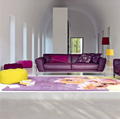 Purple Interior Design Houses Purple Interior Designs Living Room