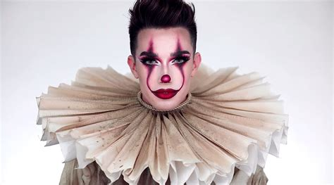 james charles makeup art james charles called hypocritical for pennywise video
