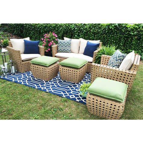 all weather wicker deep seating cushion outdoor recliner ae outdoor bethany 4 piece all weather wicker patio deep