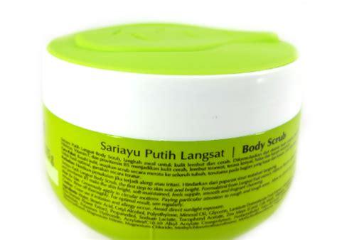 Scrub Sariayu Putih Langsat review sariayu putih langsat skin brightening scrub yukcoba in