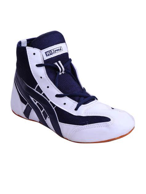 buy hi speed white blue kabaddi shoes in india