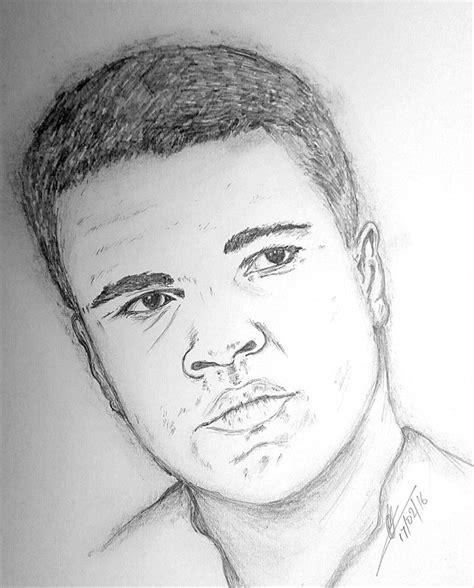 Pencil Alis ali drawing by collin a clarke