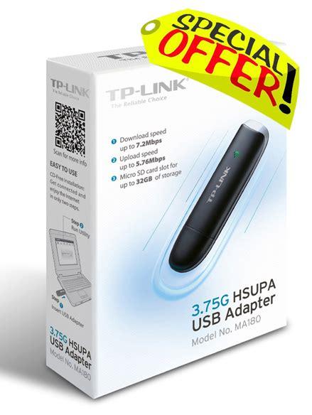 Usb Adapter Hsupa 3 75g Ma180 3g 4g wireless wifi tp link 3 75g hsupa usb adapter