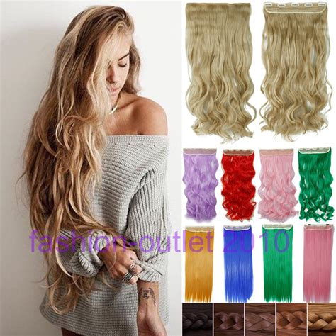 long gigi hair extensions 60cm clip in synthetic hair extensions long wavy curly