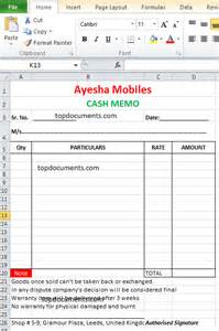 mobile invoice template memo format for mobile shop top docx