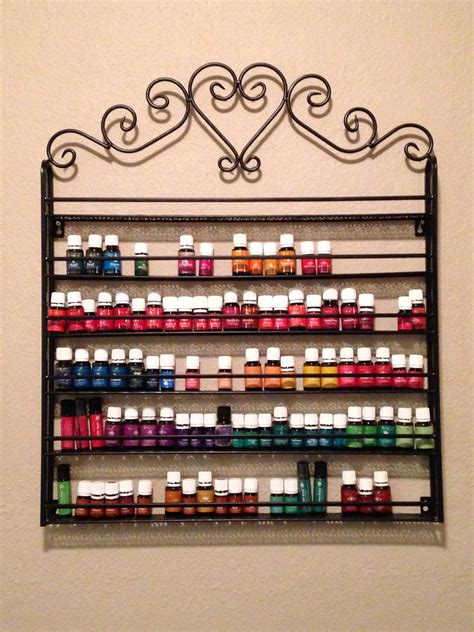 essential oil cabinet storage essential oil display rack young living oil pinterest