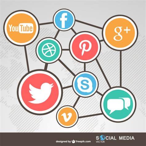 imagenes de redes sociales gratuitas redes sociales conectadas descargar vectores gratis