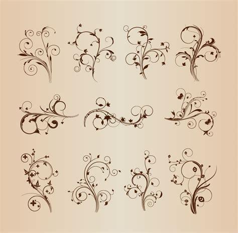 Decorative Flourish by Swirling Flourishes Decorative Floral Elements Vector Set