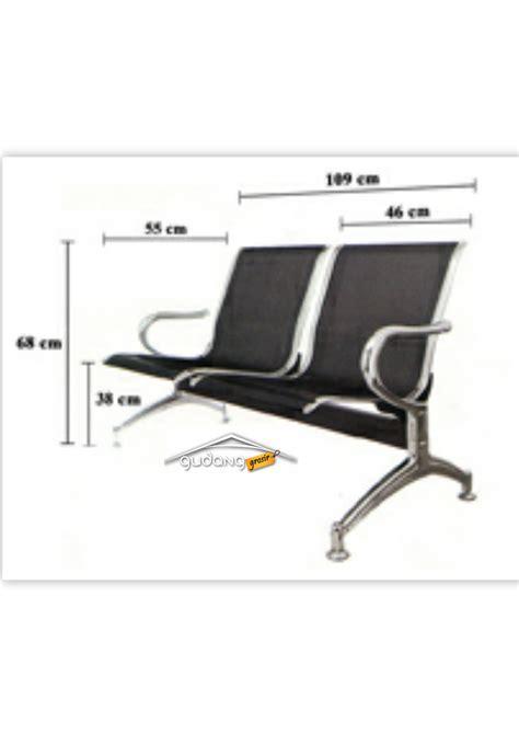 Kursi Tunggu Stainless Tanpa Sandaran kursi tunggu 3 seat sandaran