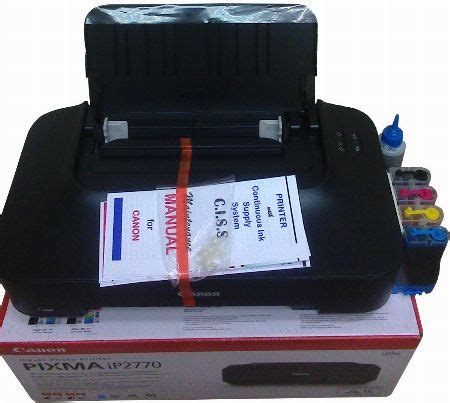 brand new canon pixma ip2770 w included ciss and free canon pixma ip 2770 with ciss on sale printers