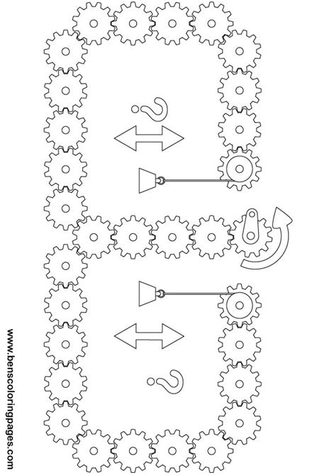 Coloring Page Challenge by Free Coloring Pages Of Gear Challenge