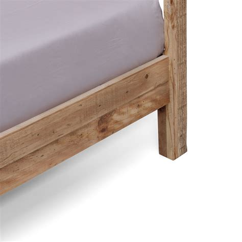 rustic king size bed frame portland brand new recycled solid pine rustic timber king