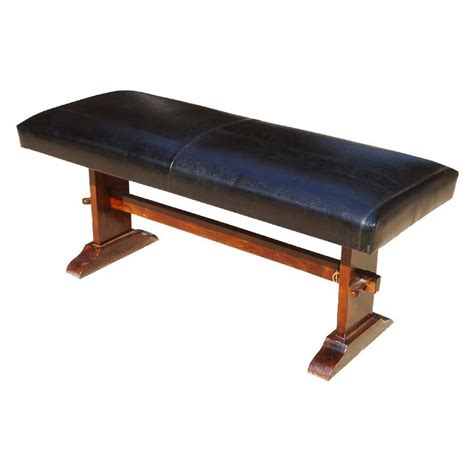 solid wood bench latulippe leather upholstered solid wood amish style