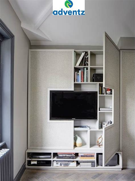 smartly designed stylish tv cabinet bookshelf      bhk flat located  west