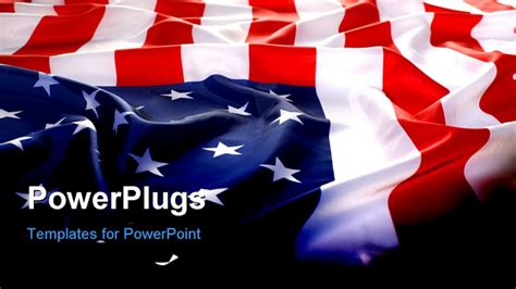 usa powerpoint template flapping flag usa with wave powerpoint template background