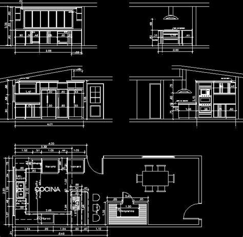 kitchen dwg elevation  autocad designs cad