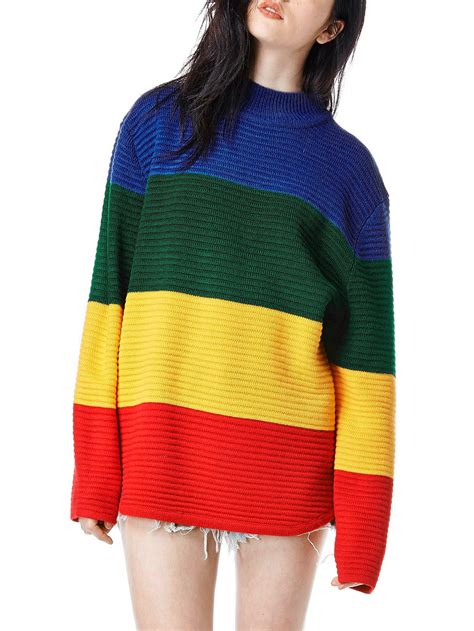 Color Cardigan color block sleeve sweaterfor romwe