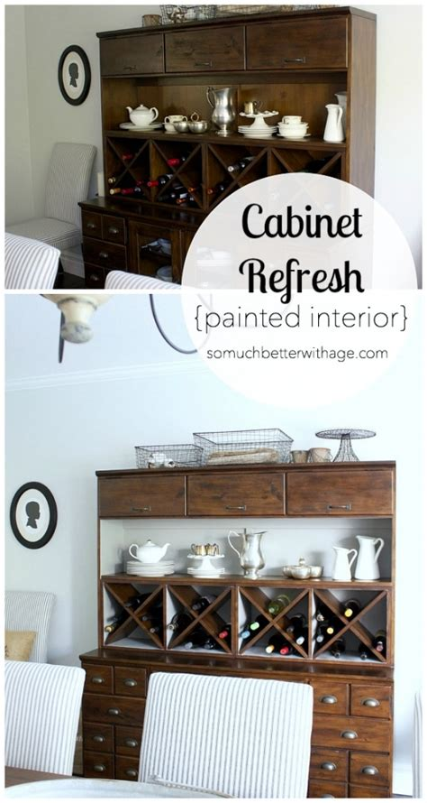 Cabinet Refresh by Cabinet Refresh Painted Interior So Much Better With Age