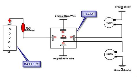 horn relay wiring schematic 27 wiring diagram images